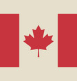 canadian flag in retro colors vector image vector image