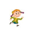 cartoon character girl running vector image vector image