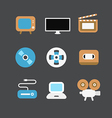 cinematograph icons vector image