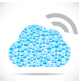 cloud computing concept download vector image vector image