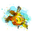 Colored hand sketch fish vector image vector image