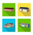 design facade and housing symbol vector image vector image
