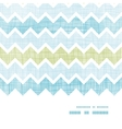 Fabric textured chevron stripes horizontal frame vector image