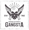 Gangster Monochrome Print vector image vector image