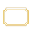Gold frame Beautiful simple golden white vector image vector image