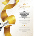 grand opening vertical banner text vector image vector image