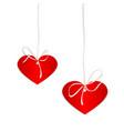heart of cardboard hanging vector image vector image