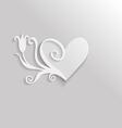 heart tulip vector image vector image