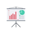 Infographic board screen with diagrams vector image vector image