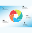 infographic template with vector image vector image