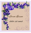 invitation with watercolor lilac flowers vector image vector image