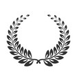 laurel wreath line art icon victory branch or vector image vector image
