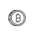 line stroke bitcoin and cryptocurrency icon vector image vector image