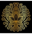 lotus gold sign vector image