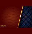 luxury brown and blue vintage elegant background vector image