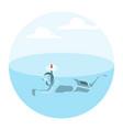 man floats under water vector image