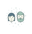 man woman user icons vector image vector image