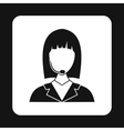 Manager taxi icon simple style vector image vector image