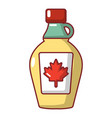 maple syrup icon cartoon style vector image vector image