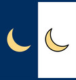 moon night sleep natural icons flat and line vector image vector image