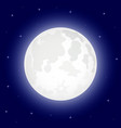 moon with shining stars vector image