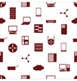 network icons white simple seamless pattern vector image vector image