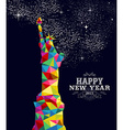 New year 2015 USA poster design vector image vector image