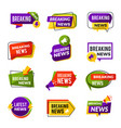 News announce daily geometric media informers for