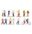 older people active sports recreation set vector image vector image