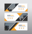 Orange black abstract triangle corporate business vector image vector image