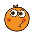 orange citrus fruit character isolated icon design vector image