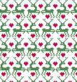 Prancing reindeer seamless nordic pattern vector image vector image