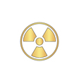 Radiation computer symbol vector image vector image