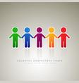 rainbow people logo company vector image vector image