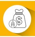 Red rocket concept business bag money vector image