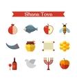 Rosh Hashanah or Shana Tova vector image
