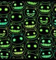 seamless pattern head cartoon spooky animal vector image
