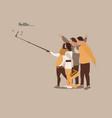 selfie modern people card vector image