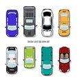 set cars top view vector image