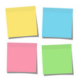 set of yellow green blue and pink paper sticky vector image vector image