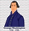 Silhouette George Washington vector image vector image