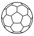 soccer ball symbol vector image