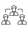 teamwork icon outline style vector image vector image