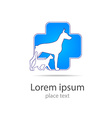 veterinary medicine logo vector image