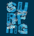 west coast wave rider surfing team vector image vector image