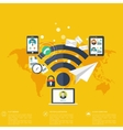 Wi fi iconCloud computing Social media network vector image vector image