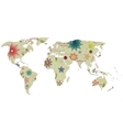 World map vintage 2 vector image vector image