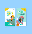 youth day instagram template design vector image vector image