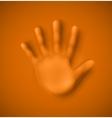 Human palm vector image