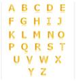 Gold alphabet set a to z vector image
